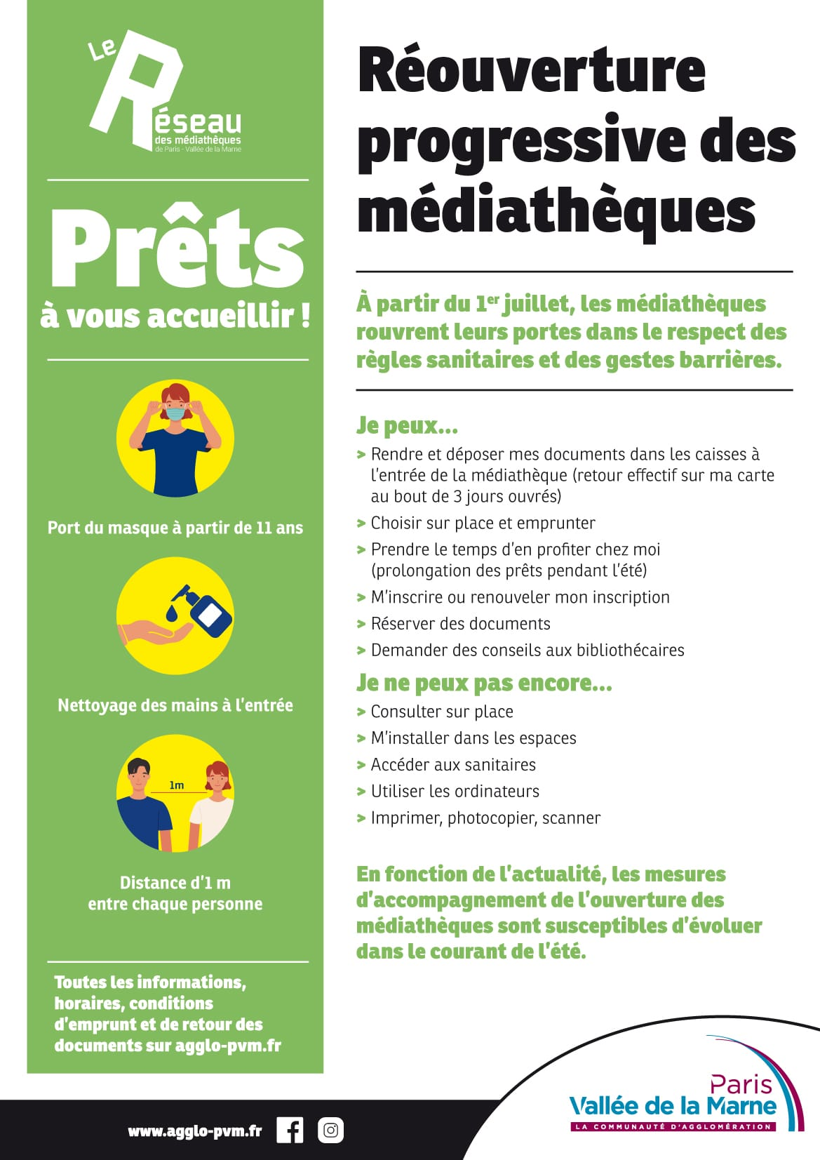 Reouverture Mediatheques Juillet 2020
